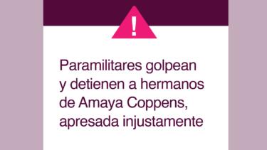 Alerta hermanos Amaya Coppens